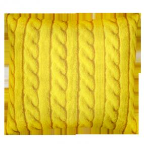 Подушка Игрушка Вязанка желтая