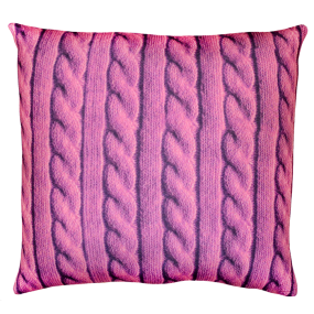 Подушка Игрушка Вязанка розовая
