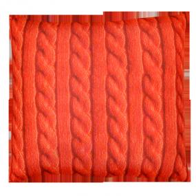Подушка Игрушка Вязанка красная