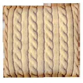 Подушка Игрушка Вязанка бежевая