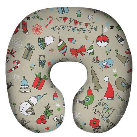 Подушка под шею Игрушка Снежный 02