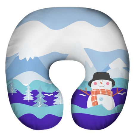 Подушка под шею Игрушка Снежный 07