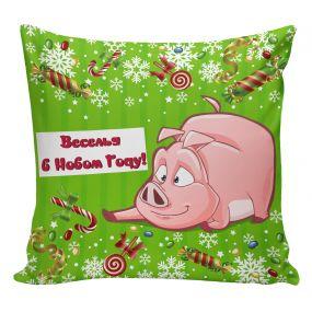 'Подушка Игрушка Новогодние Свинки 05