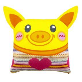 Подушка Игрушка Свинка с ушками 01