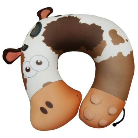 Подушка под шею Игрушка Корова Шоколад