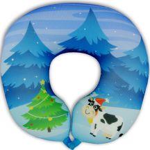 Подушка под шею Игрушка Коровка Новогодняя