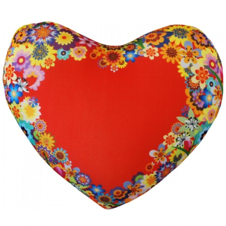 Подушка Игрушка Сердце цветы